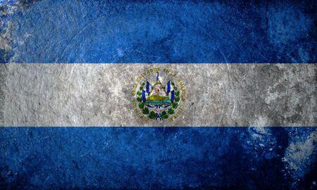 el: A grunge flag of El Salvador
