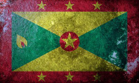 grenada: A grunge flag of Grenada