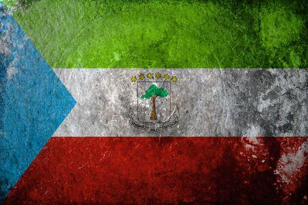 equatorial: A dirty, grunge design flag of Equatorial Guinea