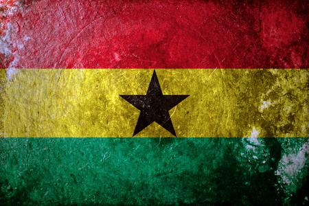 Ghana: A dirty, grunge design flag of Ghana Stock Photo