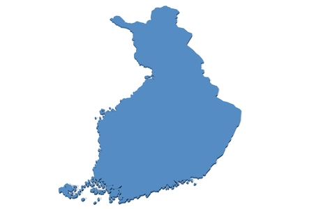 finland: 3D map of Finland