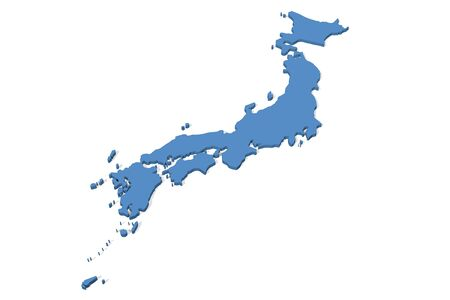 3D map of Japan Standard-Bild