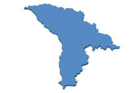 moldova: 3D map of Moldova