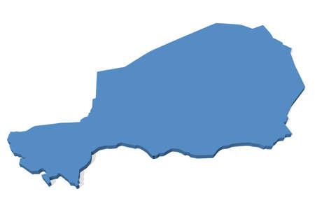 niger: 3D map of Niger
