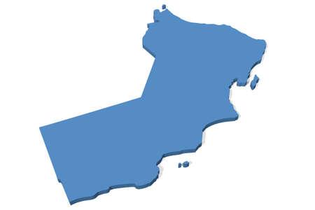 oman: 3D map of Oman