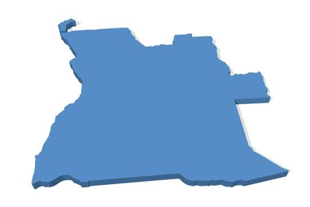 angola: 3D map of Angola Stock Photo