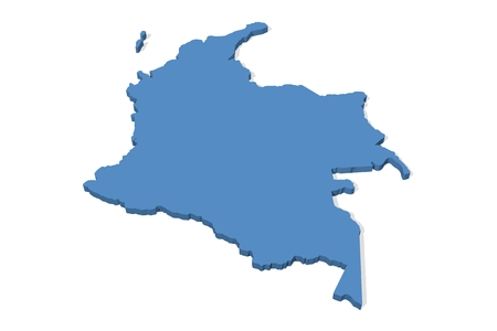 3D map of Colombia