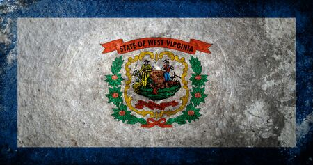 A dirty, grunge design of the state flag of West Virginia