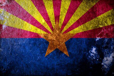 state of arizona: A dirty, grunge design of the state flag of Arizona