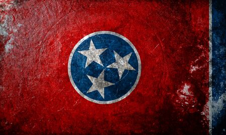 tennesse: A dirty, grunge design of the state flag of Tennessee Foto de archivo