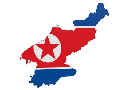 cantons: Map of North Korea in the colors of the national flag