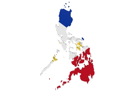 cantons: Map of the Philippines in the colors of the national flag
