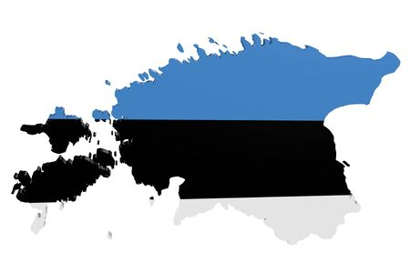 cantons: Map of Estonia in the colors of the national flag