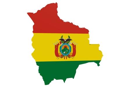 mapa de bolivia: Mapa de Bolivia en los colores de la bandera nacional
