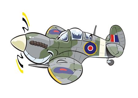 Spitfire cartoon plane