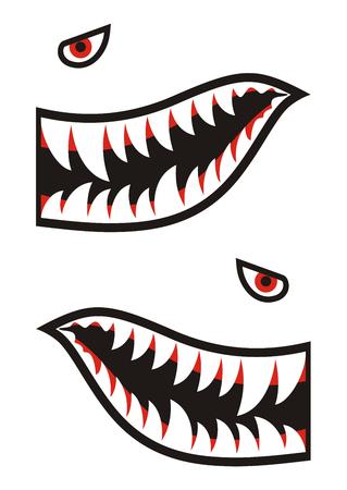 Shark tanden decals Stockfoto