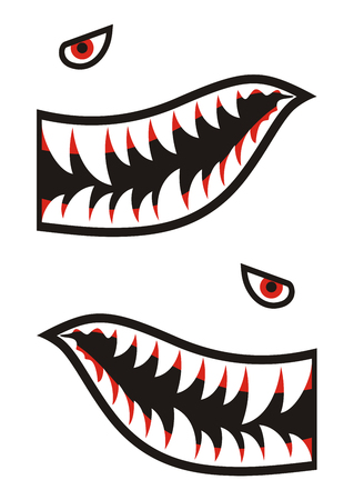 Shark teeth decals Stock fotó