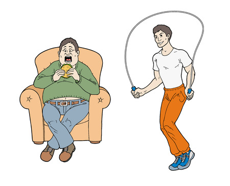 Healthy and unhealthy way of life