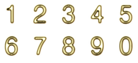 5.0: Gold numbers Stock Photo