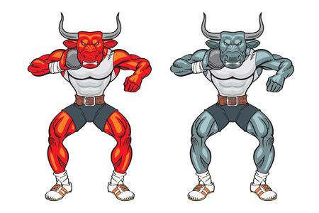 Bull mascot shot putter Foto de archivo - 87863201