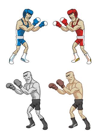 Cartoon boxers Stock Photo