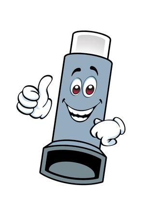 cartoon inhaler showing thumbs up