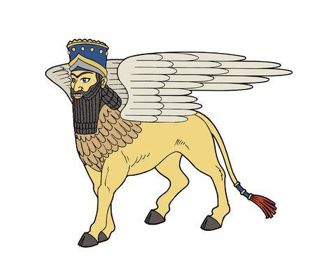 Winged bull of Babylon illustration