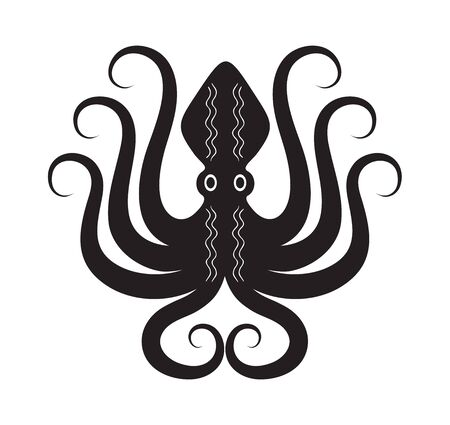 Octopus ancient greek style tribal design