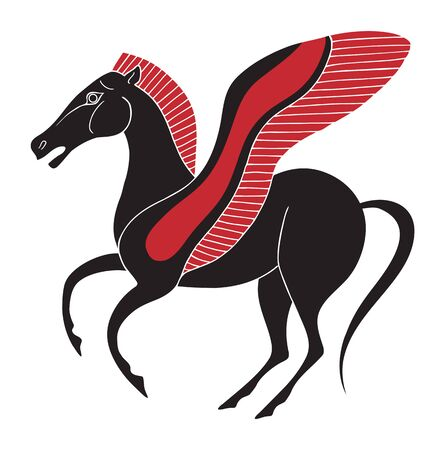 Pegasus ancient greek style design