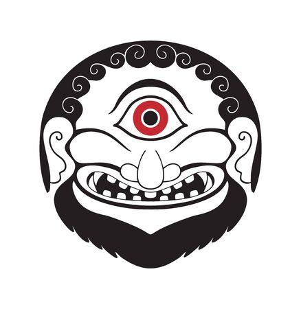 Cyclops ancient greek style tribal design