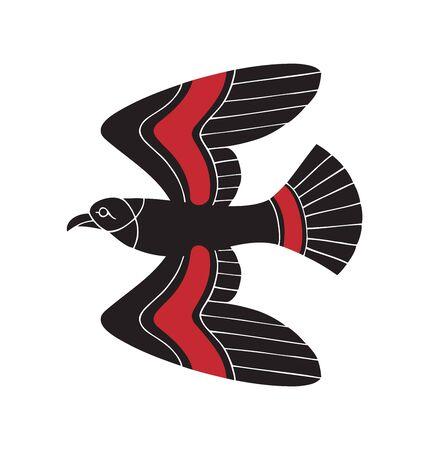 falcon ancient greek style tribal design