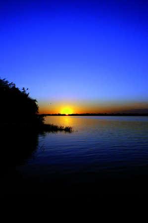 Goldern sunset in twilight