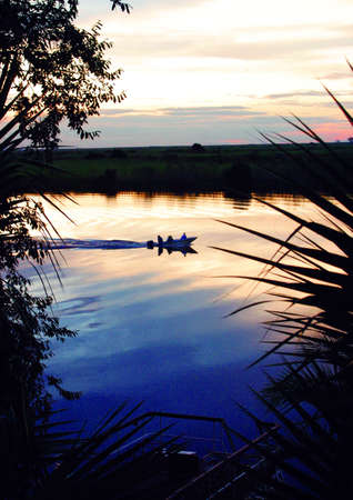 Chobe river by sunset