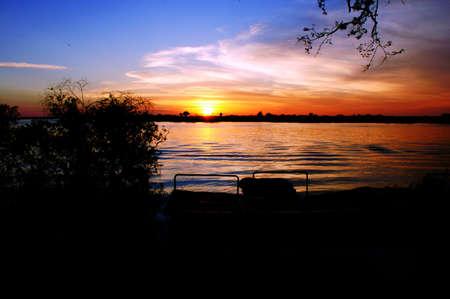 Tramonto dal fiume Chobe