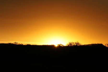 tramonto scena Archivio Fotografico