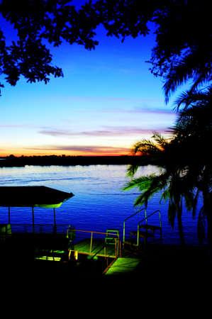 River-view sunset, Chobe river, Kasane, Botswana