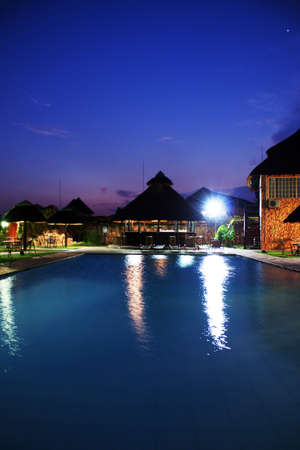 Poolside evening, Gaborone, Botswana
