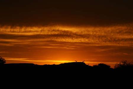 Sunset by the hilltops, Ramotswa, Botswana