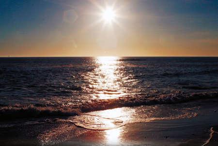 Atlantic ocean sunset, Namibia