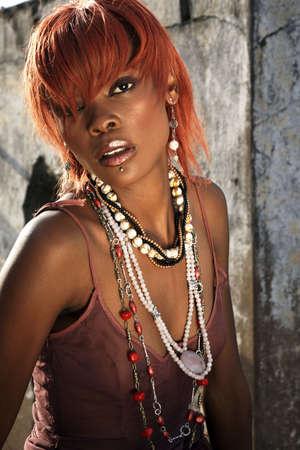 Tlamelo Lekoko beads shoot Stock Photo