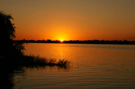 Open water sunset, Chobe river DSC