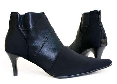 Black Ladies Shoes Stock Photo