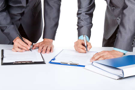 legal office: businessmen Stock Photo