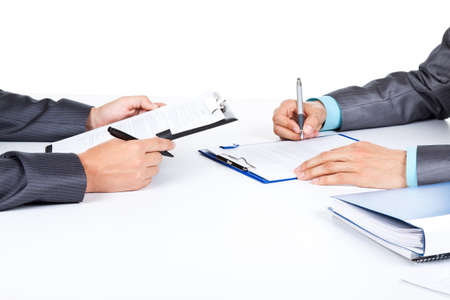 undersign: businessmen Stock Photo
