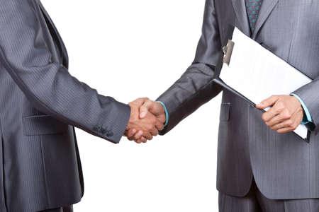 contratos: hombres de negocios