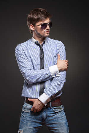 male fashion: Handsome man