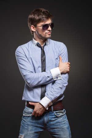 jeans model: Handsome man
