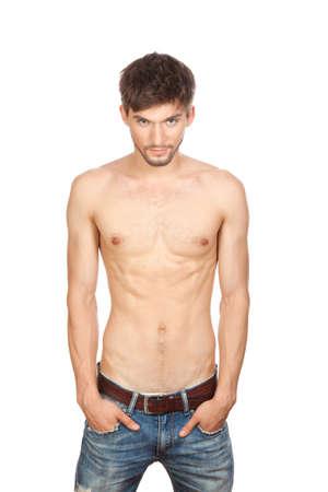 ni�o sin camisa: hombre sexy