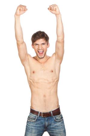 niño sin camisa: hombre sexy