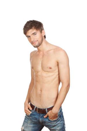 hombre flaco: hombre sexy